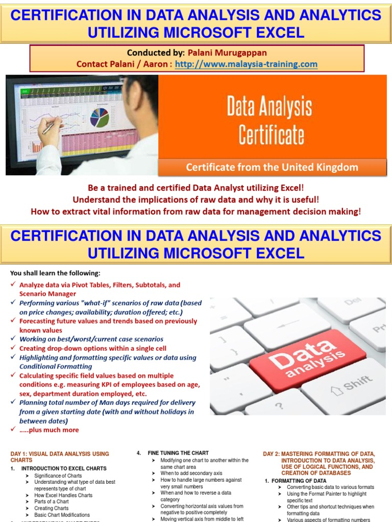 data analysis analytics certification training malaysia data