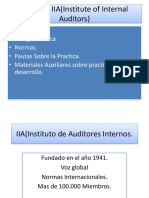 El Rol de IIA(Institute of Internal Auditors)