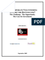 Can Corporate Volunteering Support the Bottom Line?