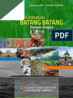 Kecamatan Batang Batang Dalam Angka Tahun2016