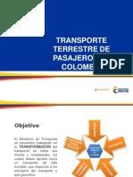 8.Transporte Terrestre de Pasajeros en Colombia - Ministerio de Transporte