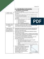 Yr 11 Preliminary Economics Summary