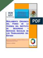 Reglamento Organico Del FOVISSSTE