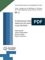 Borda , Guelman, Dabenigno - Estrategias Para El Análisis de Datos Cualitativos