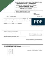 Bonafide Certificate 2016