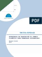 Estrategia de Adaptacion Al Cambio Climatico Para Humedales Altoandinos