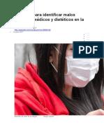 BBC MUNDO - 10 Pasos Para Identificar Malos Consejos Médicos y Dietéticos en La Prensa