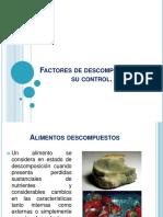 Factores de descomposición y su control