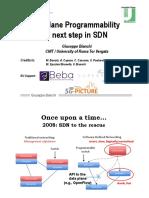 Data Plane Programmability the Next Step in SDN - Netsoft2017_Keynote_Bianchi