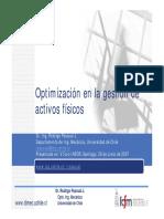 Optimización en La Gestión de Activos Físicos