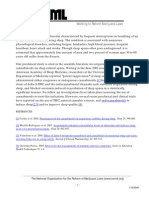 NORML Clinical Applications Sleep Apnea
