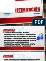 OPTIMIZACIÓN