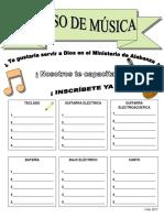 Invitacion Curso de Musica