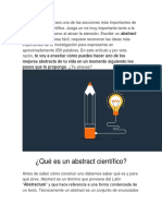 El Abstract de Un Documento Científico