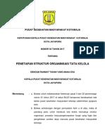 Penetapan Struktur Organisasi Tata Kelola