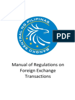 BSP Manual for Foreign Exchange Transactions