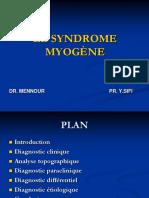 Syndrome Myogene wtn
