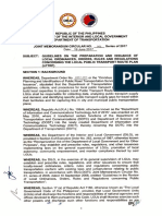 DILG DOTr JMC 1 s 2017 Guidelines Issuance Local Ordinance Rules Regulations Local Public Transport Route Plan LTPRP June 19 2017