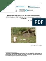Inta-normativas Vinculadas a Los Procesos de Produccion y Comercializacion de Porcinos en La Agricultura Familiar de Tucuman