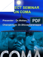 Subject Seminar on COMA by Dr.mohan T Shenoy on 24-8-2009 & 31-8-2009
