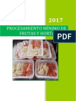 Procesamiento Minio de Frutas y Hortalizas Frutas