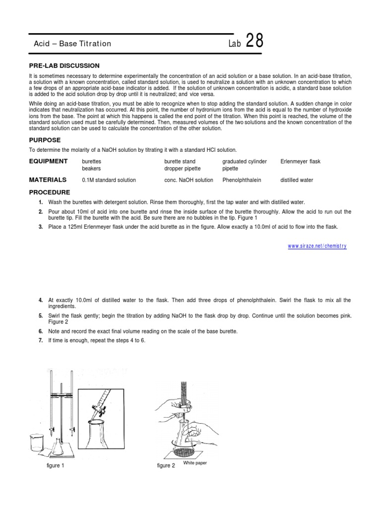 Acid Base Titration | Titration | Acid