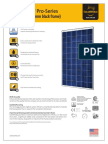 Sunmodule Solar Panel Pro Series 260 Poly 33mm Frame Ds