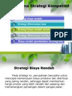 Konsep Lima Strategi Kompetitif Generik