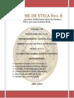 Informe de Etica Nro 8, Eticonomia