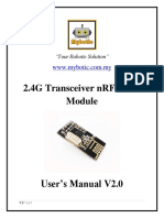 2.4G Transceiver NRF24L01 Module User's Manual v2.0
