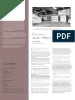 Entrevista a Juan Herreros