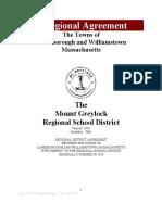 Final Mount Greylock Regional Agreement Proposal