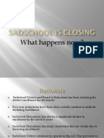 sadschool is closing assignment 2
