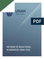 Resultados Academicos UNAH 2016 INFORME.corregido 2
