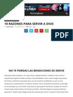 10 Razones Para Servir a Dios