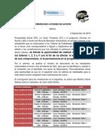 Comunicado Nivelaciones 2016-09-06