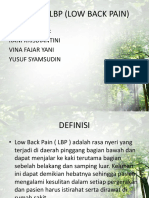 Senam Lbp (Low Back Pain)
