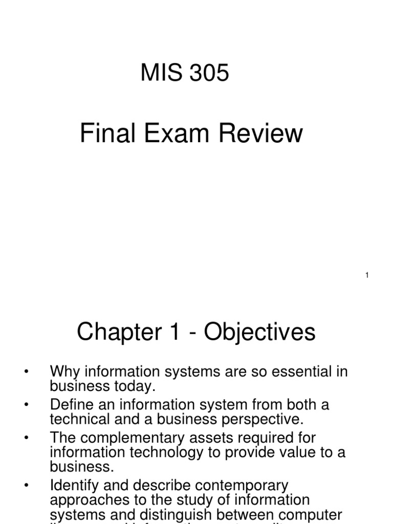 MIS Final Exam Review | Computer Network | Information System