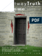 The Feast of UNLEAVENED BREAD THE PESACH ~ StraitwayNewsletter 06 ( 2014 )