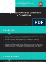 Programación Dinámica Determinista y Probabilística