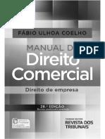 Manual de Direito Comercial Fabio Ulhoa