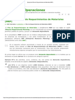 Ejemplo Del Plan de Requerimientos de Materiales (MRP)