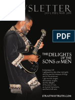The Delights Of The Sons Of Men ~ StraitwayNewsletter 08 ( 2015 ) ~ Pastor Dowell