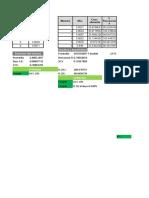 Hoja de calculo de validación Guía QFB