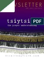 tsiytsith - the proper understanding ~ StraitwayNewsletter 09 ( 2015 ) ~ Pastor Dowell