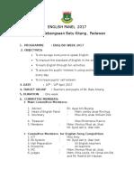 English Panel Action Plan 2017
