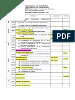 Cronograma 2017 Procesal Administrativo