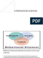 Intro to Behavioral Sciences