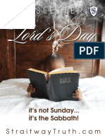 The Lord's Day ~ StraitwayNewsletter 12 ( 2016 ) ~ Pastor Dowell