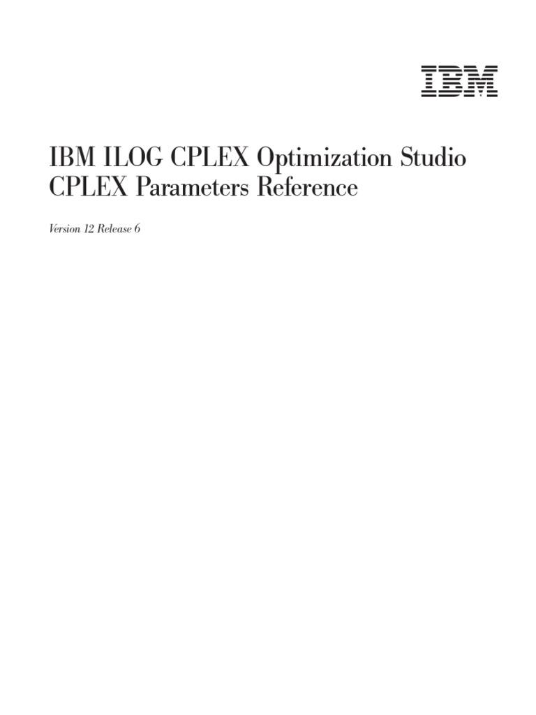 CPLEX PARAMETER SETTINGS pdf   Method (Computer Programming
